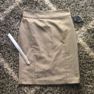 Banana Republic tweed, nude/ cream skirt
